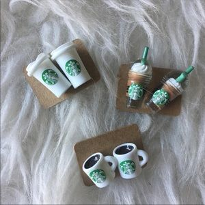 Starbucks Jewelry - Starbucks Earrings: 3 Pair